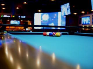 Pool table rooim sizes and pool table sizes chart in Peoria