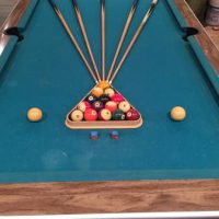 One Slate Pool Table