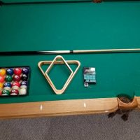 Hand Crafted 8ft Billiards Table Includes Pool Balls and Sticks