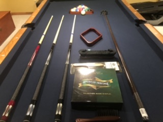 American Heritage Pool Table and Accessories