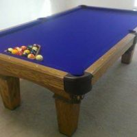 8' Solid Oak Olhausen Pool Table For Sale